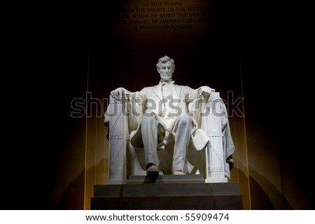 lincoln memorial statue - stock photo