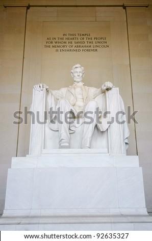 Lincoln Memorial statue - stock photo