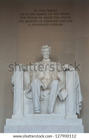 lincoln memorial statue, Washington, DC - stock photo
