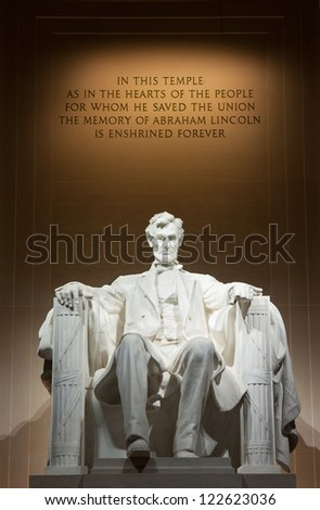 Lincoln Memorial Washington DC - stock photo