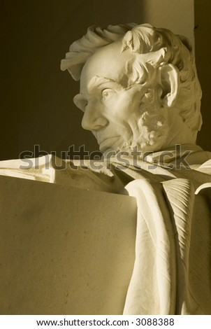 Lincoln Memorial Washington DC travel series 52 - stock photo