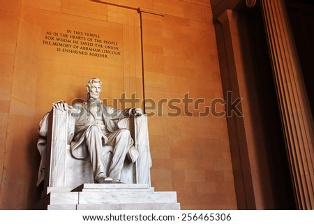 Lincoln Memorial, Washington DC, USA. - stock photo