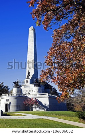 Lincoln's Tomb in Springfield, Illinois, USA. - stock photo