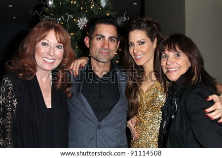 Linda Kasem, Mike Kasem, Kerri Kasem, Raven Kane Campbell at the James Barbour Holiday Concert, Renaissance Hotel, Hollywood, CA 12-16-11 - stock photo