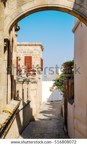 Lindos old town, Rhodes