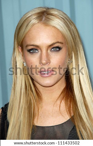 Lindsay Lohan  at the 2007/2008 Chanel Cruise Show Presented by Karl Lagerfeld. Hanger 8, Santa Monica, CA. 05-18-07 - stock photo