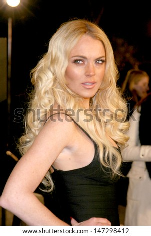 "Lindsay Lohan ""Cloverfield"" Movie Premiere  Paramount Studios Theate Los Angeles, CA January 16, 2008 - stock photo"