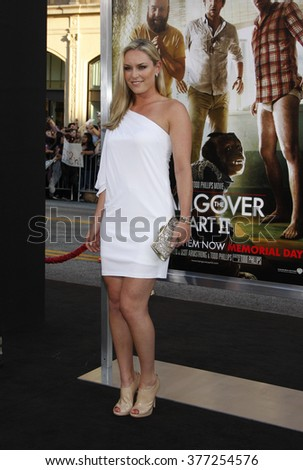 "Lindsey Vonn at the Los Angeles Premiere of ""The Hangover Part II"" held at the Grauman's Chinese Theater in Los Angeles, California, United States on May 19, 2011.  - stock photo"