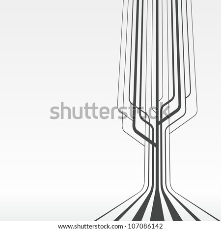 Line abstract background - stock photo