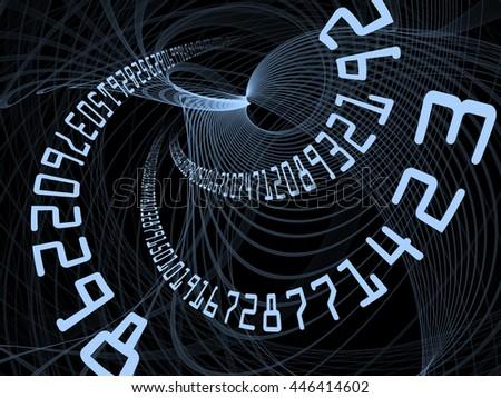 Line Number Series Arrangement Topological Grids Stock Illustration