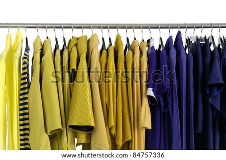 Line of designer fashion autumn/winter clothes rack display