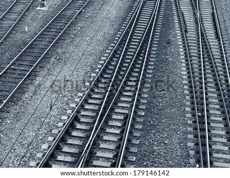 Line of railway - stock photo