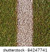 Line on the sport artificial grass - stock photo