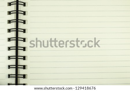 line open green read notebook texture soft paper