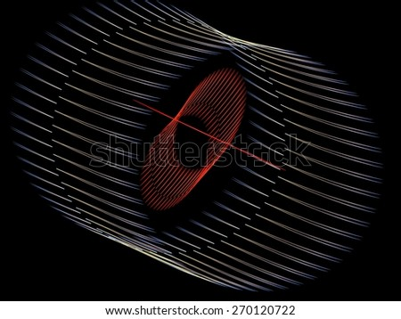Linear tube abstract fractal background - stock photo