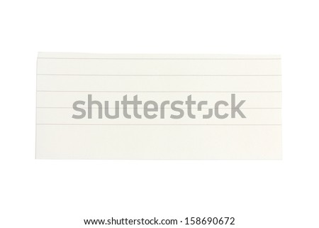 Lined paper scrap isolated on white - stock photo