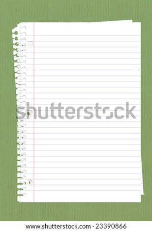 lined perforated note paper stack