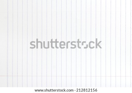 lined white paper texture - stock photo