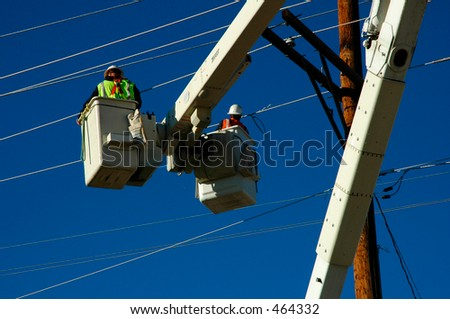 Linemen - stock photo