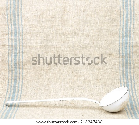 Linen and ladles - stock photo