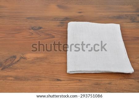 Linen cloth - stock photo