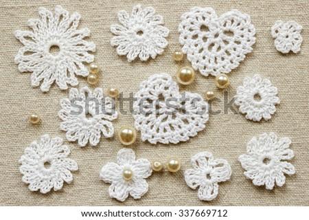 Linen Creative Cotton Irish Crochet Lace Stock Photo Royalty Free