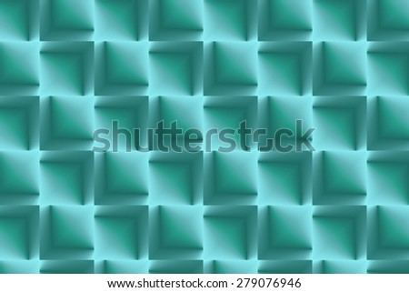 Lines and stripes in aqua - stock photo