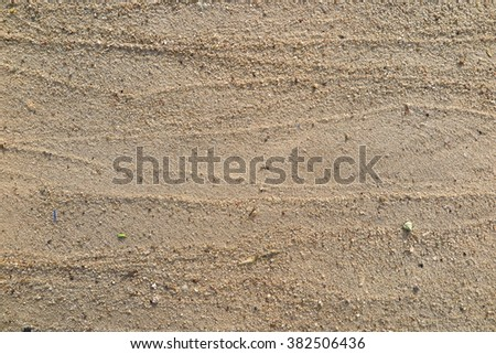 Lines of sand on the beach