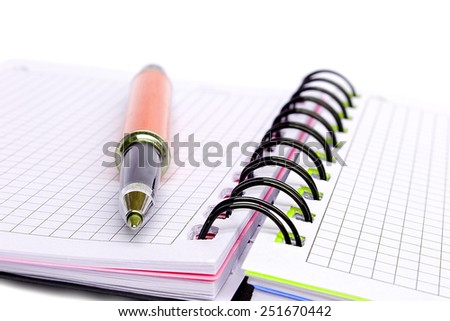 lining pad and pen - stock photo