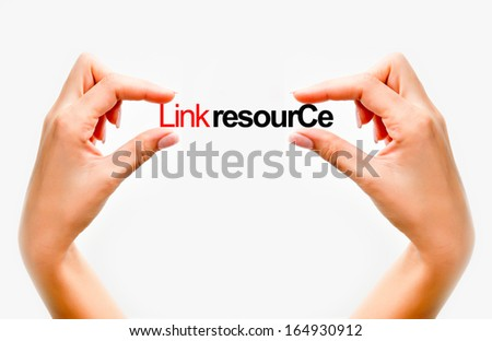 Link resource concept - stock photo