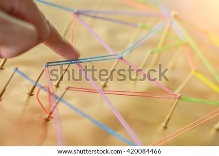 Linking entities. Network, networking, social media, connectivity, internet communication abstract. the photo network error concept. - stock photo