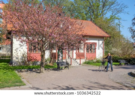 LINKOPING, SWEDEN - MAY 15: Spring in the iconic park Tradgardsforeningen on May 15, 2013 in Linkoping. This is a historic park in Linkoping, which is a famous University town in Sweden