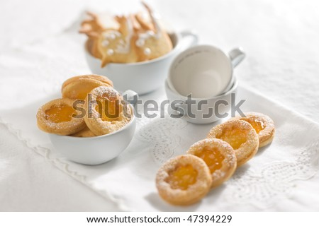 Linz biscuits - stock photo