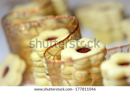 Linzer flowers - stock photo
