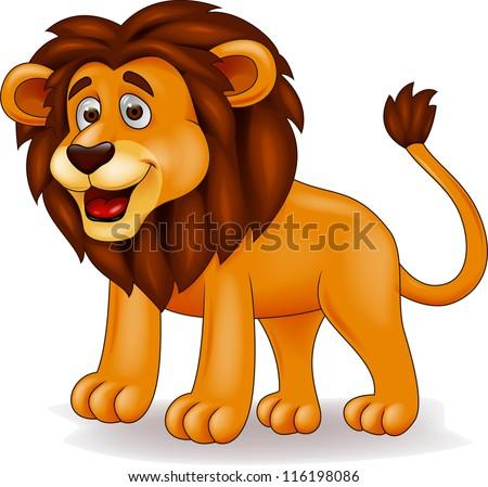 Lion cartoon - stock photo