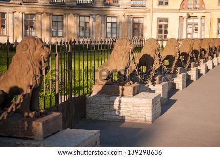 lion city sculpture - stock photo