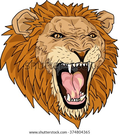 lion mascot cartoon stock illustration 374804365 shutterstock rh shutterstock com lion cartoon face modern lion cartoon face mask