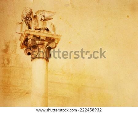 Lion of San Marco in Verona - stock photo