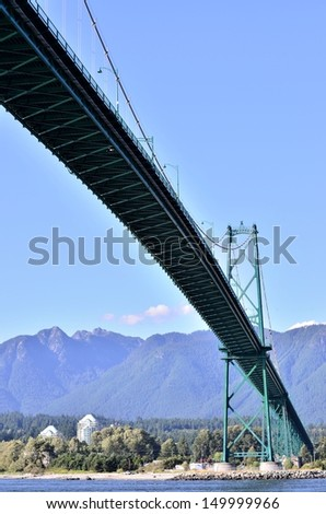 Lion's gate bridge in Vancouver, BC - stock photo