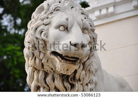 Lion Statue - stock photo