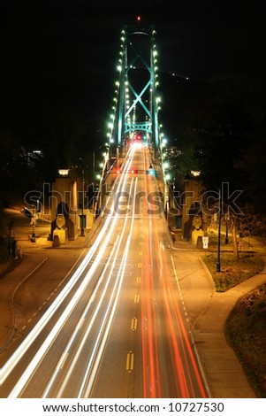 Lions Gate Suspension Bridge Gateway - stock photo