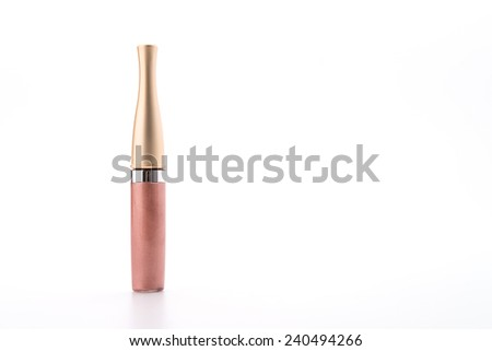lip gloss cosmetic isolated on white background