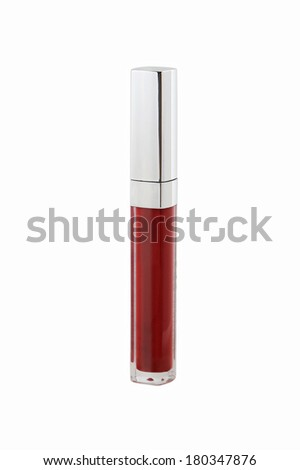 lip gloss on white background - stock photo