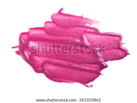 Lip gloss sample isolated on white
