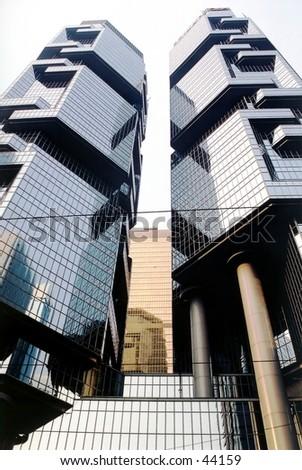 Lippo Centre towers - stock photo