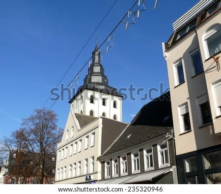 lippst�¤dter jacobi church - stock photo