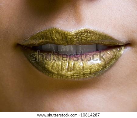 lips - stock photo