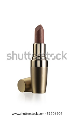 lipstick gloss bronze isolated on white background