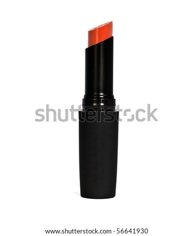 lipstick is isolated on a white background