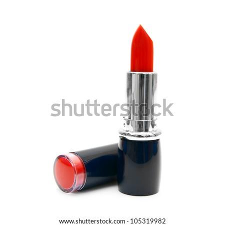 Lipstick. On a white background. - stock photo